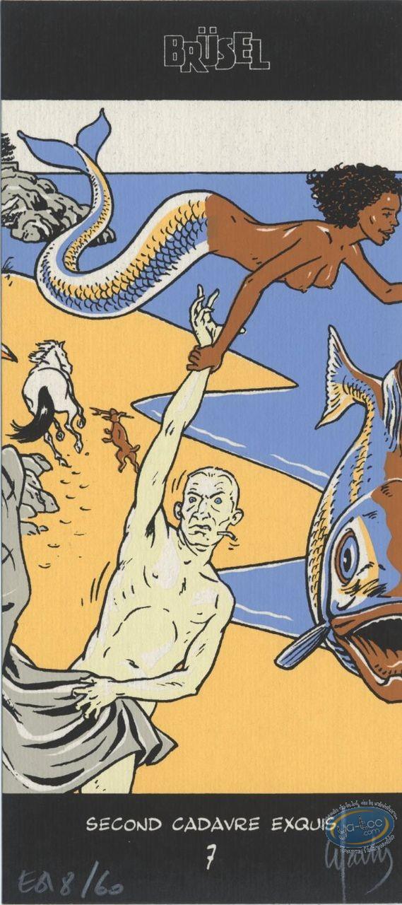 Ex-libris Sérigraphie, Warnauts, Sirène