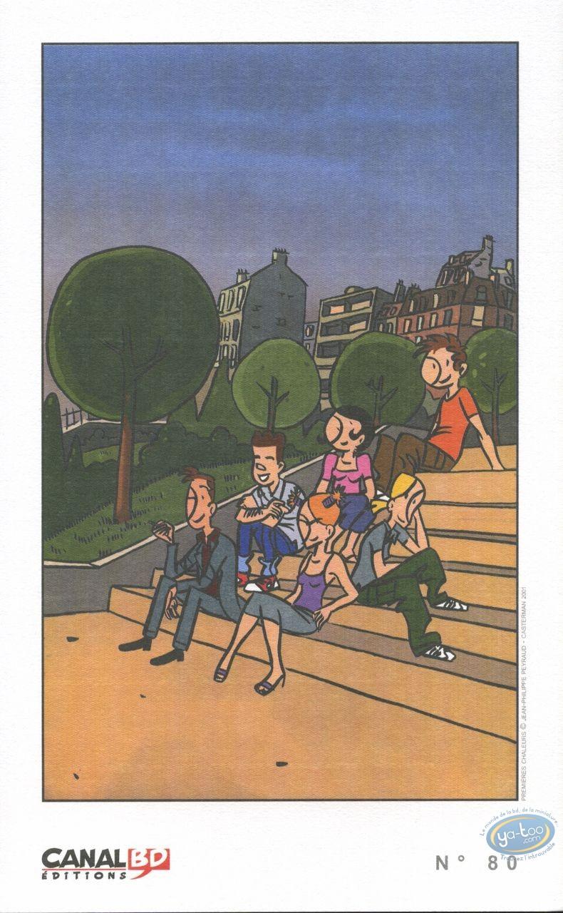 Ex-libris Offset, Premières Chaleurs : Assis sur les marches