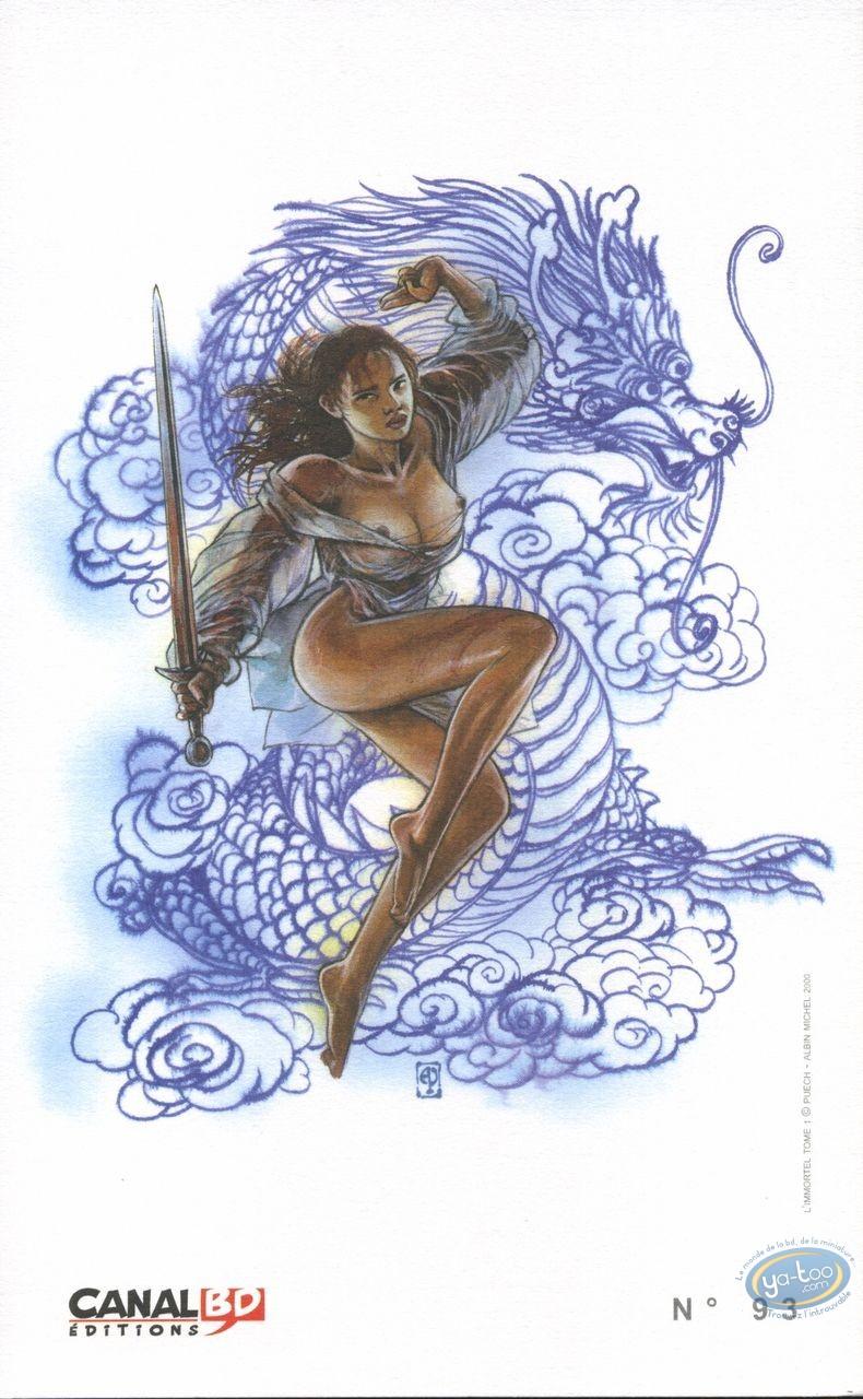 Ex-libris Offset, Immortel (L') : Femme épée