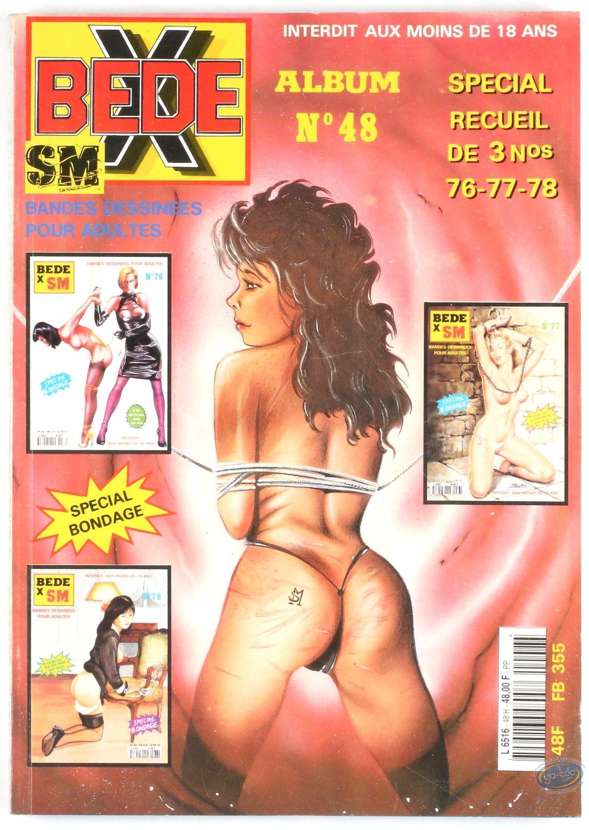 BD adultes, Bédé X N°48, Recueil des numéros 76/77/78