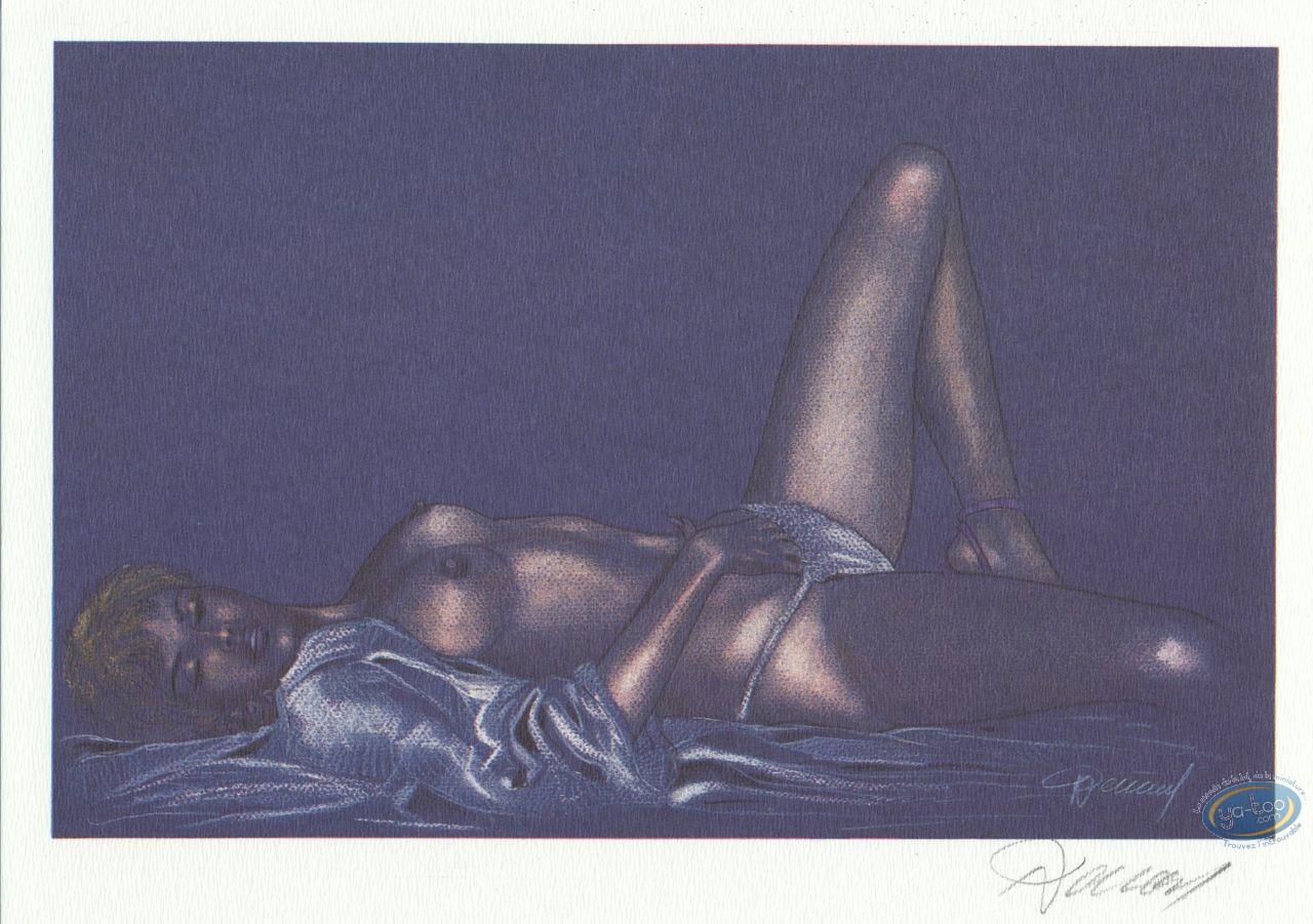 Ex-libris Offset, Jessica Blandy : Plaisir solitaire (fond bleu)