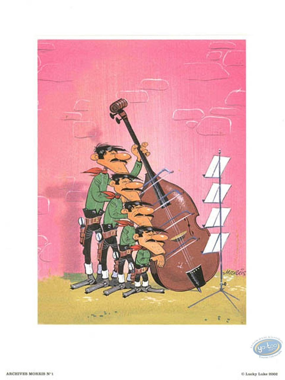 Affiche Offset, Lucky Luke : Archives N°1 : Quartet