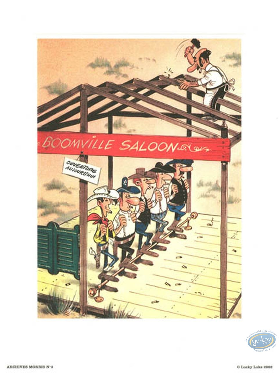 Affiche Offset, Lucky Luke : Archives N°3 : Saloon