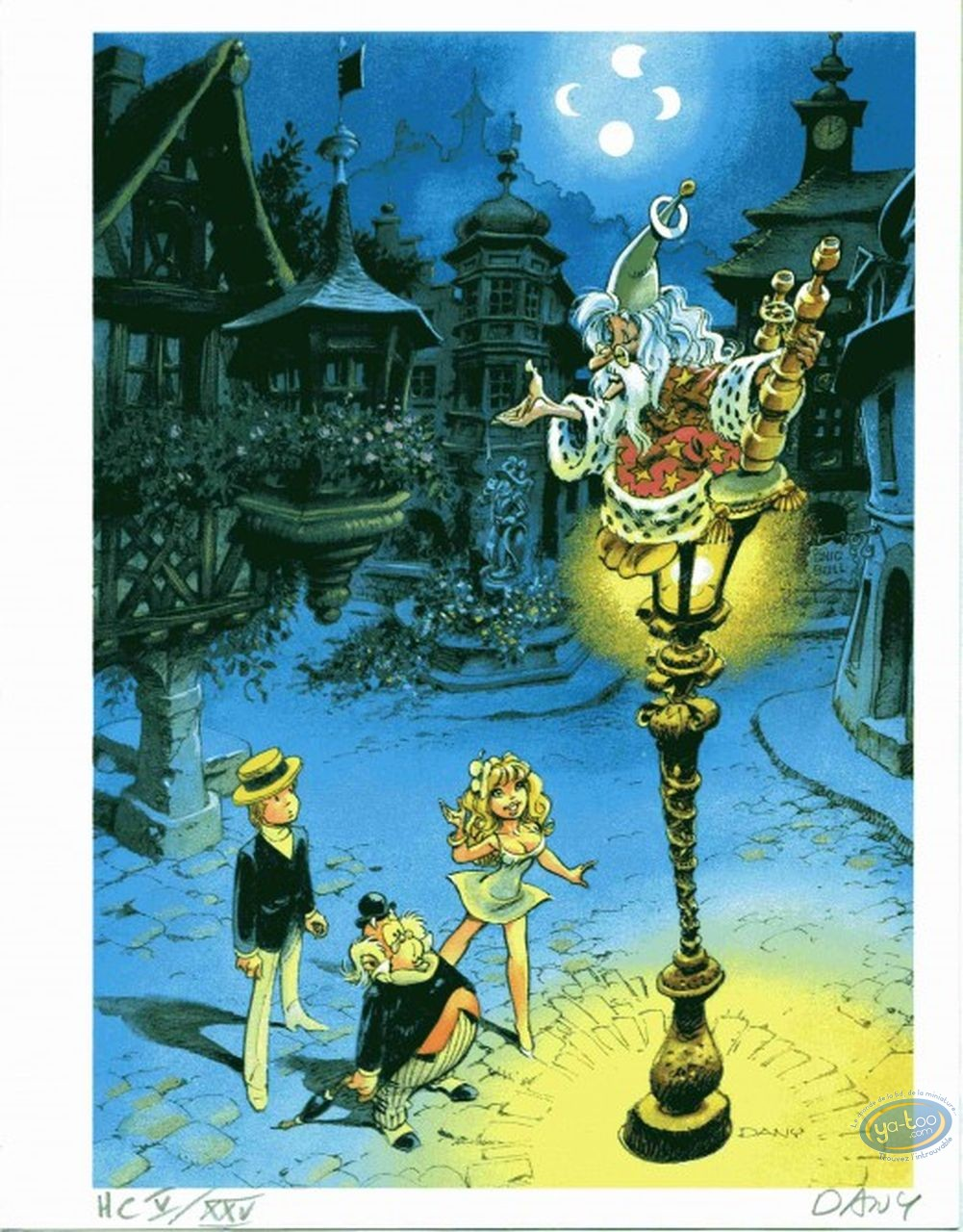 Ex-libris Offset, Olivier Rameau : le lampadaire (non signé)