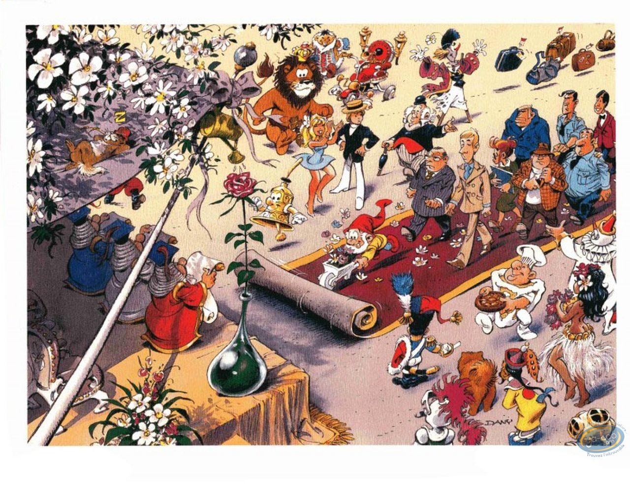 Ex-libris Offset, Olivier Rameau : Le tapis rouge (non signé)