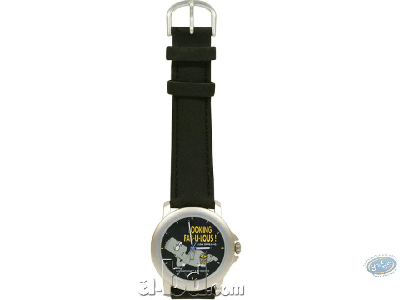 Horlogerie, Simpson (Les) : Montre, Bart fabulous (bracelet cuir)