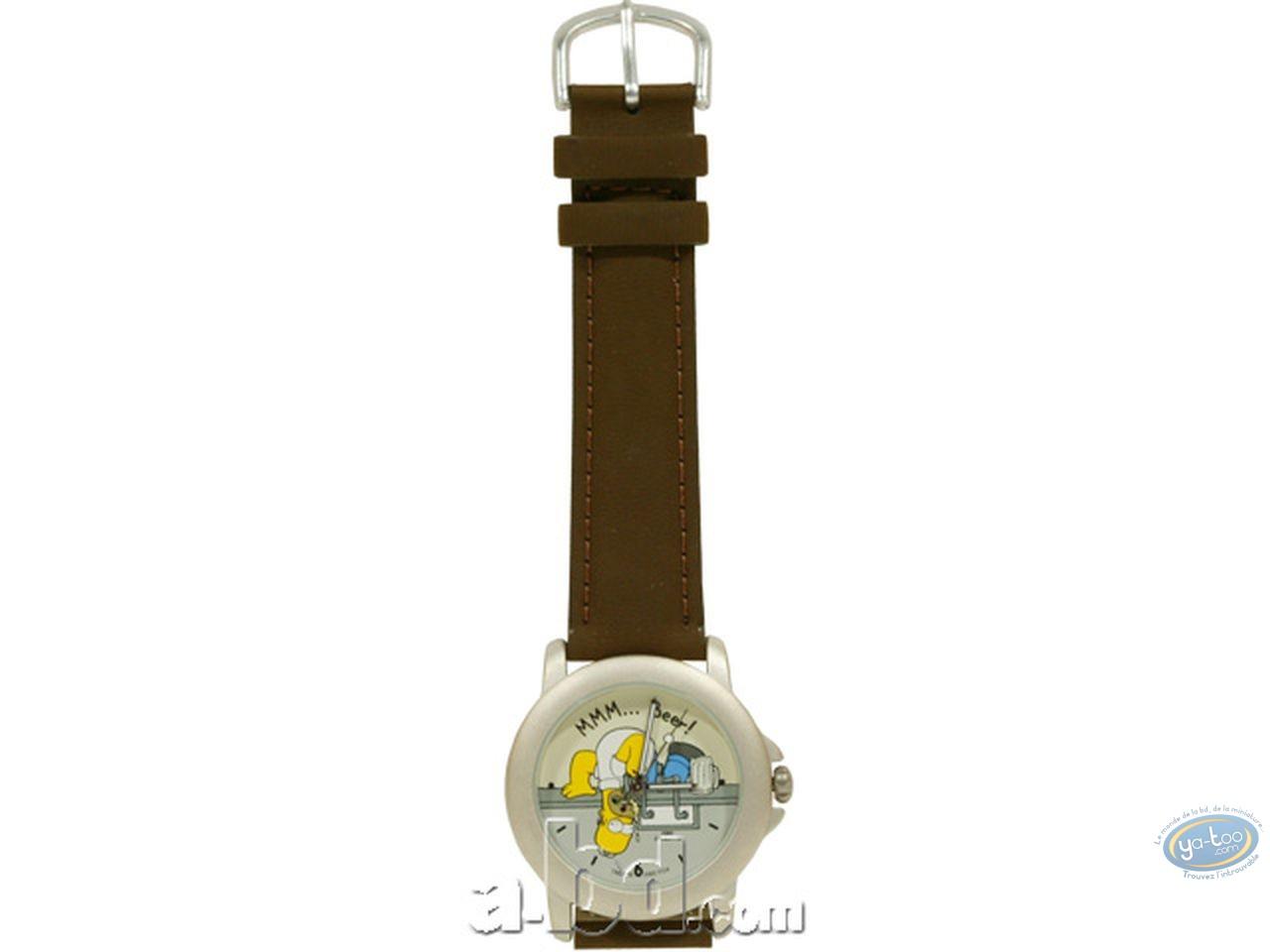 Horlogerie, Simpson (Les) : Montre, Homer beer (bracelet cuir)