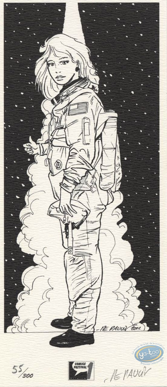 Ex-libris Offset, Tania : Astronaute