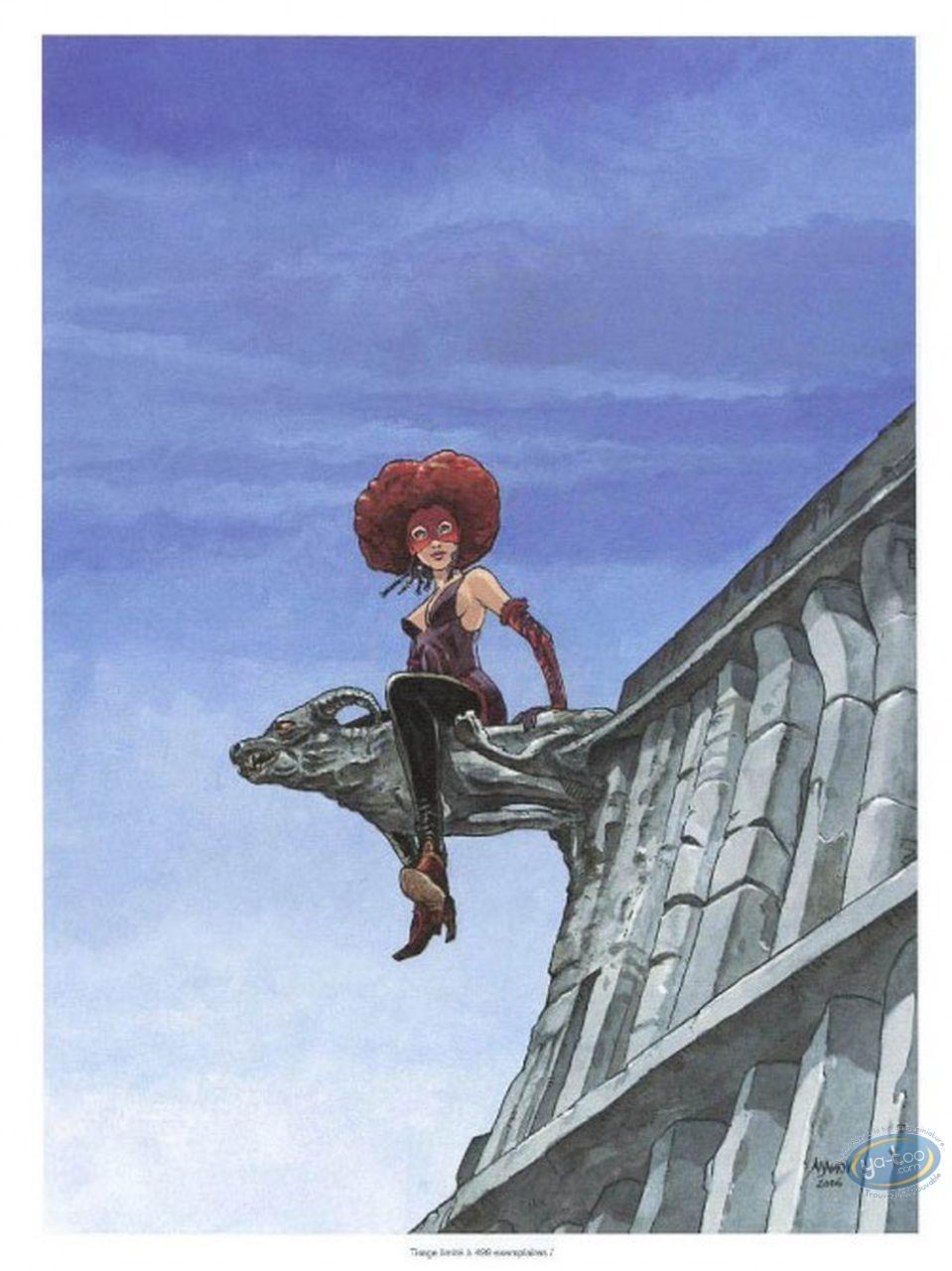 Ex-libris Offset, Eaux de Mortelune (Les) : Femme sur gargouille