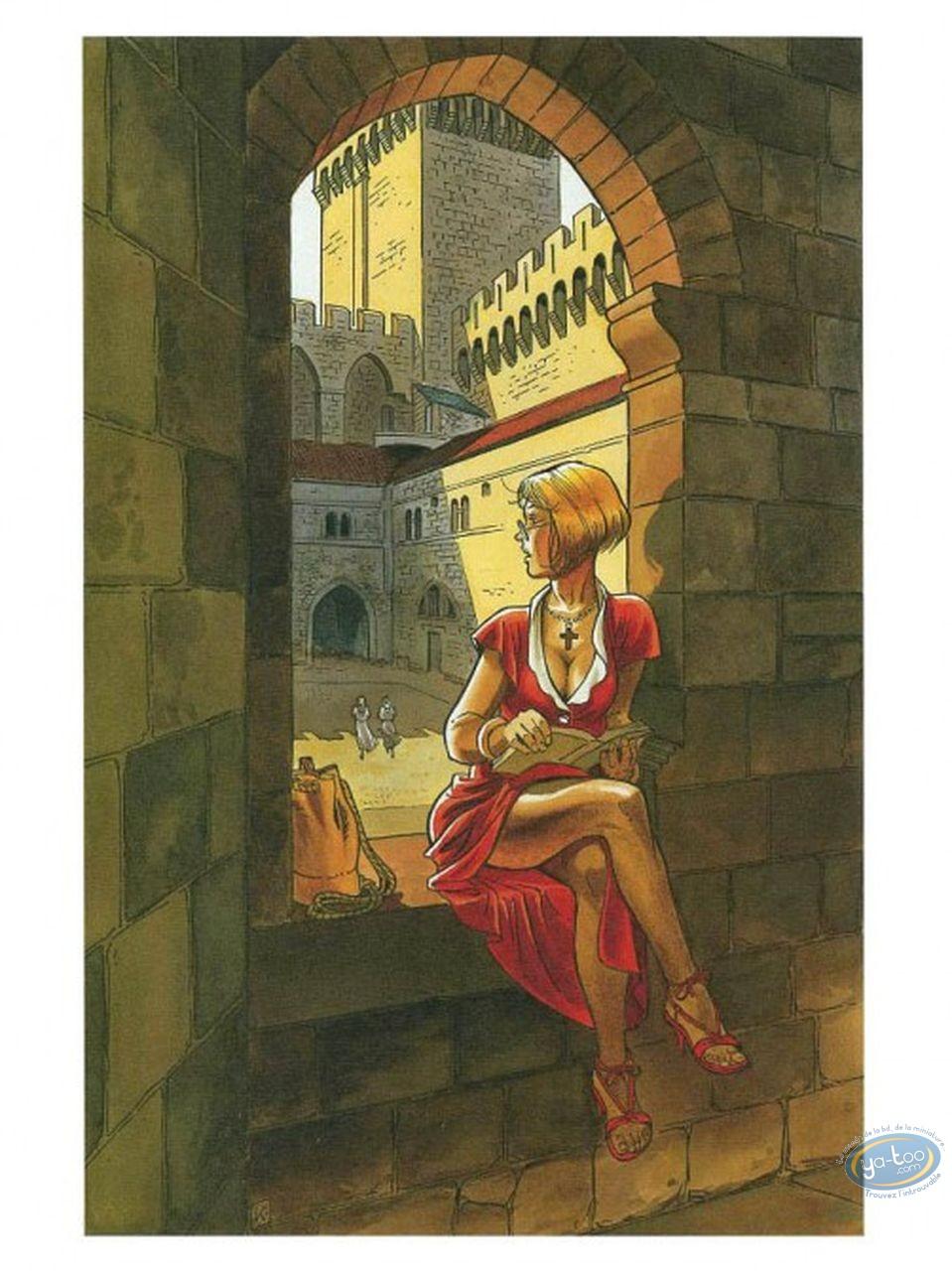 Ex-libris Offset, Femme lisant