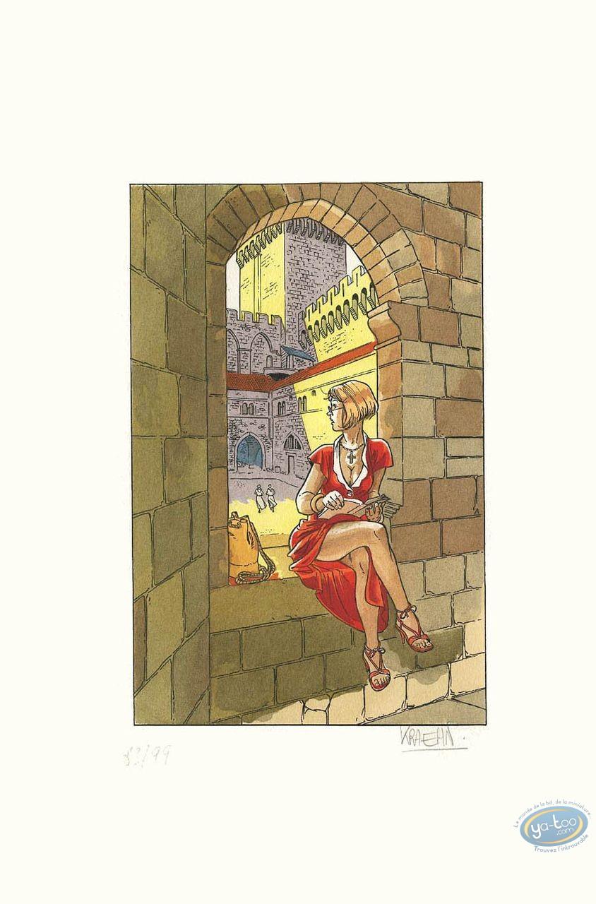 Pochoir, Pin-Up : Femme à la fenêtre