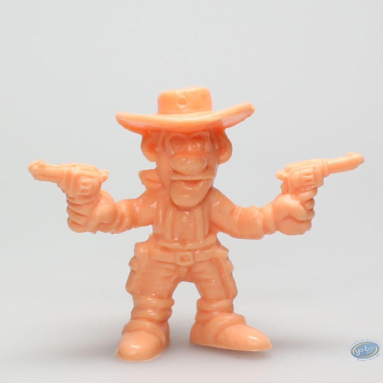 Figurine plastique, Lucky Luke : Joe Dalton pistolets levés (orange)
