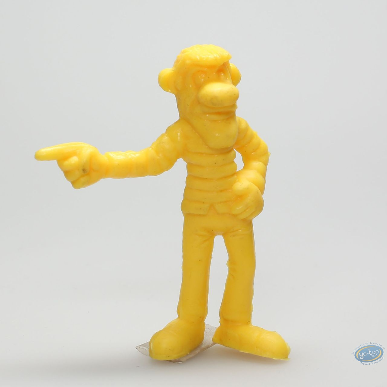 Figurine plastique, Lucky Luke : William Dalton doigt pointé (jaune)