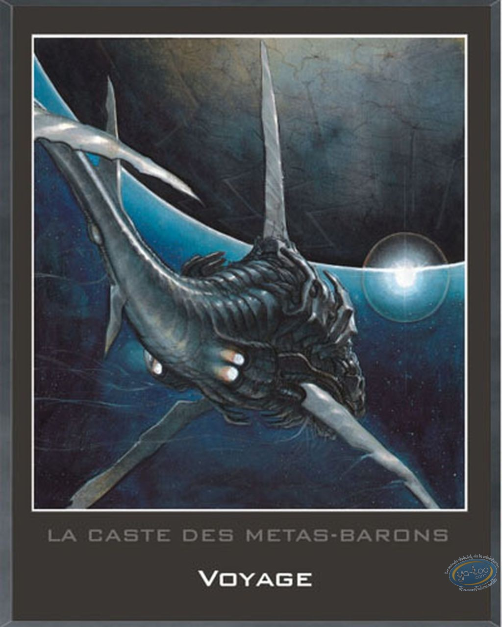 Affiche Offset, Caste des Métas-Barons (La) : Cadre en bois, Voyage