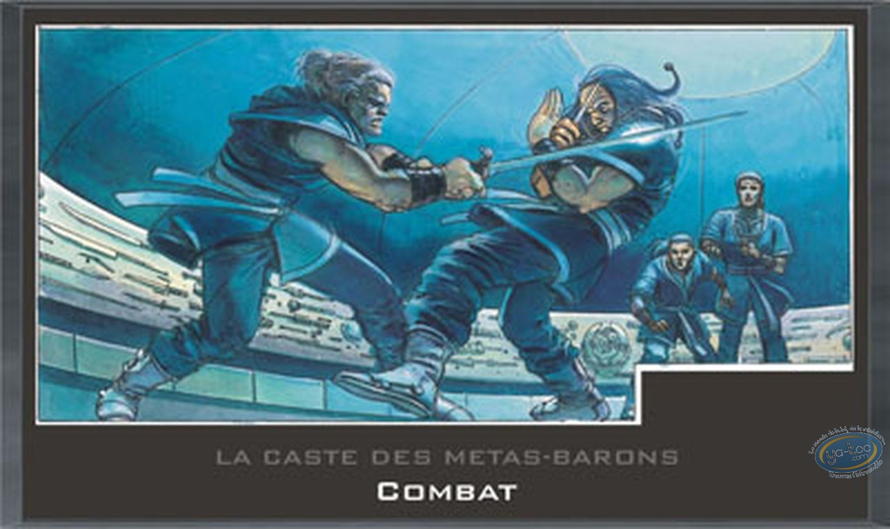 Affiche Offset, Caste des Métas-Barons (La) : Cadre en bois, Combat