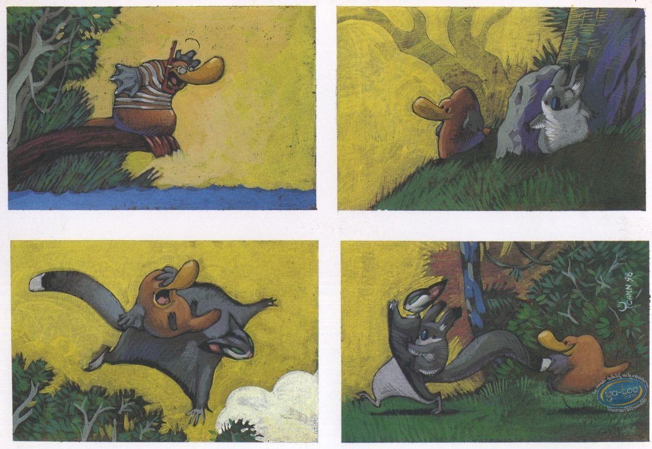 Ex-libris Offset, Toto l'Ornithorynque : 4 dessins