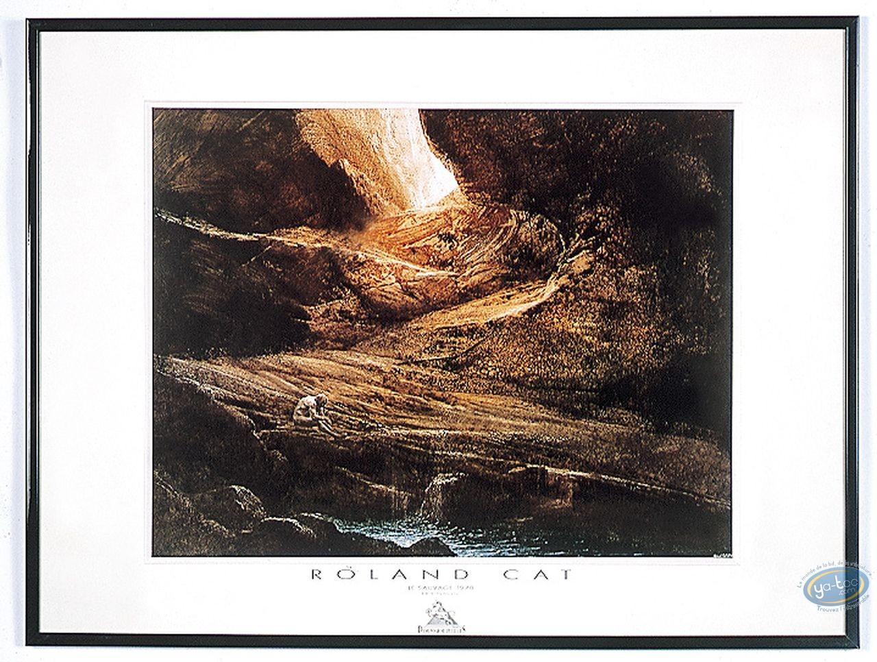 Affiche Offset, Roland Cat : Caverne