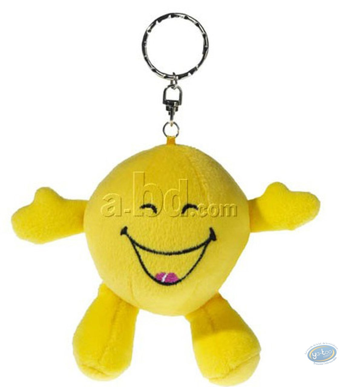 Porte-clé, Smiley : Peluche Smiley rigole