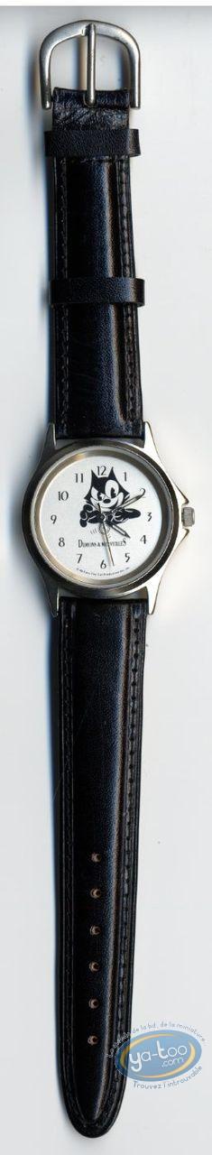 Horlogerie, Félix le Chat : Montre, Félix le chat bracelet cuir