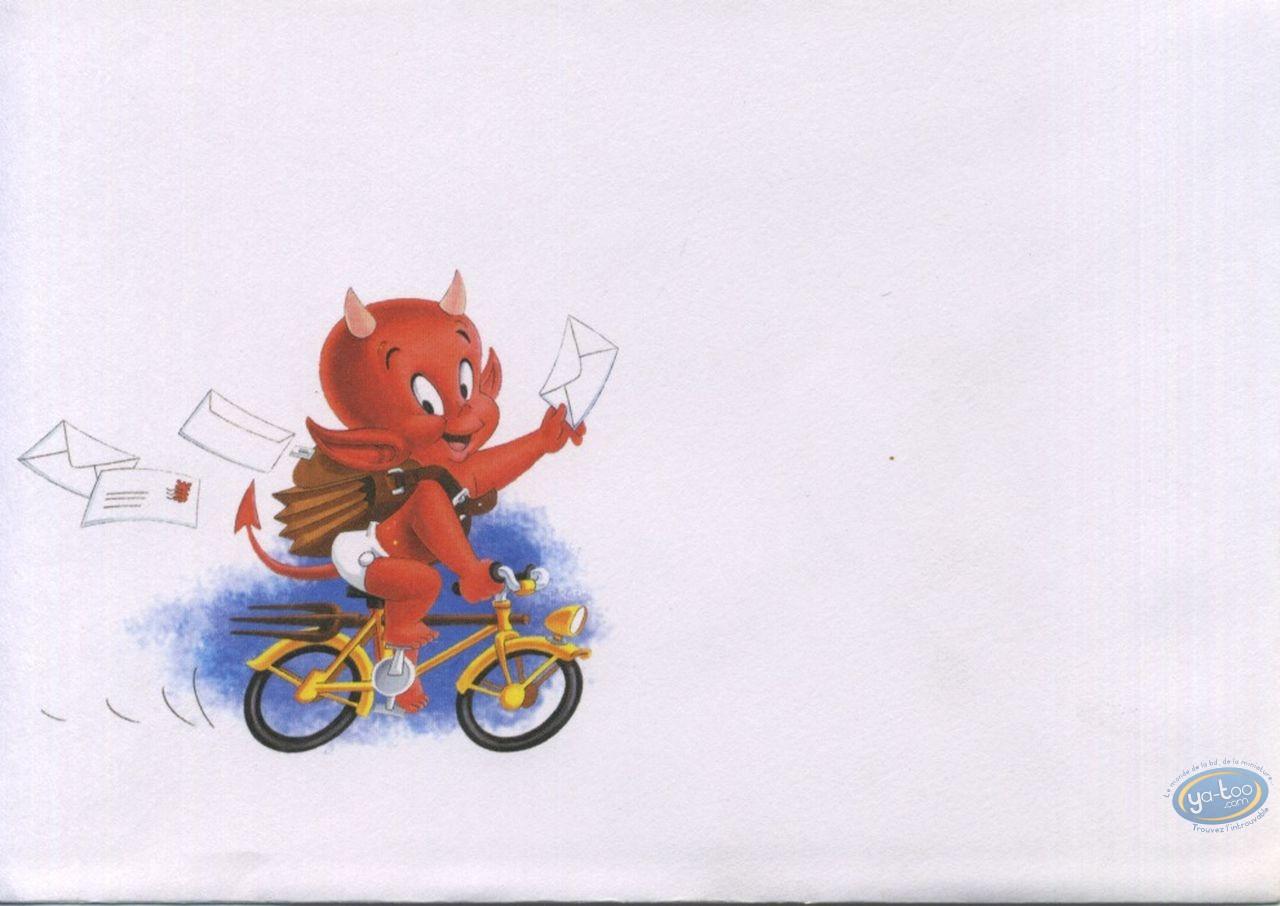 Carte Postale Hot Stuff Quand On Parle Du Loup On En Voit La Preuve De Son Amitié Bonne Fête