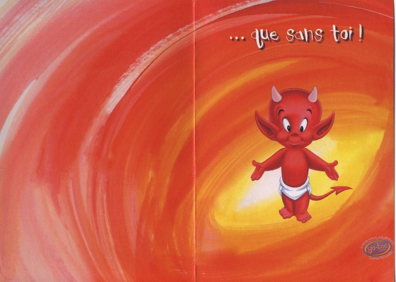 Carte postale, Hot Stuff : Tout est mieux avec toi... que sans toi