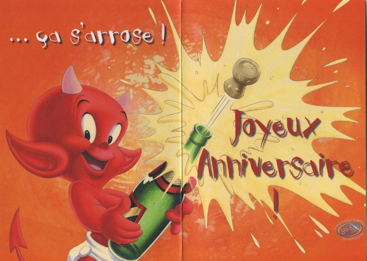 Carte postale, Hot Stuff : 1 an de plus?...ca s'arrose! Bon anniversaire!