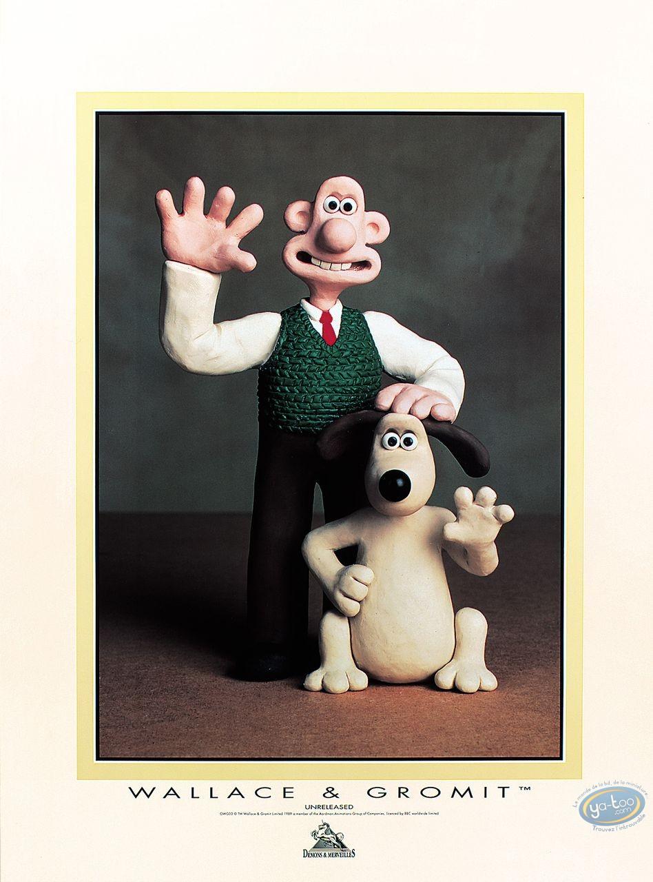 Affiche Offset, Wallace et Gromit : Coucou