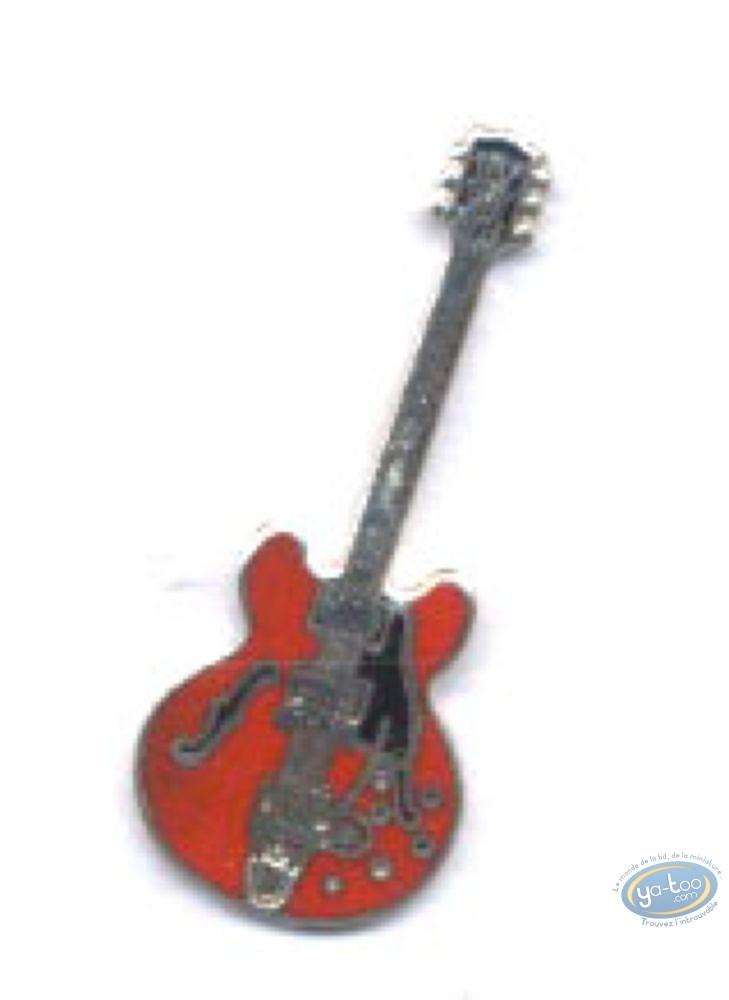 Pin's  Guitare électro-acoustique de country rouge Démons et Merveilles Speldjes Verzamelingen