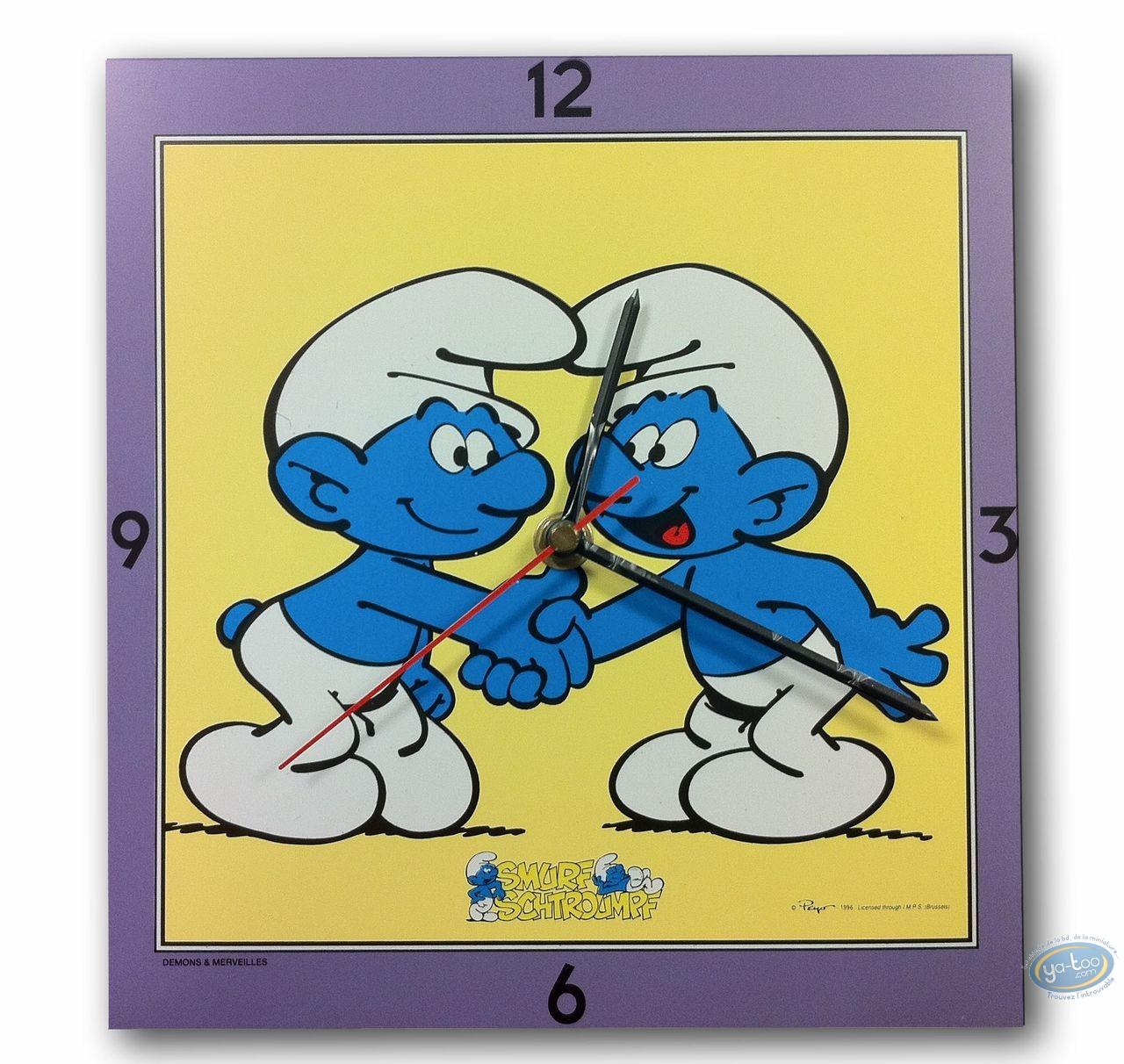 Horlogerie, Schtroumpfs (Les) : Horloge, 2 amis