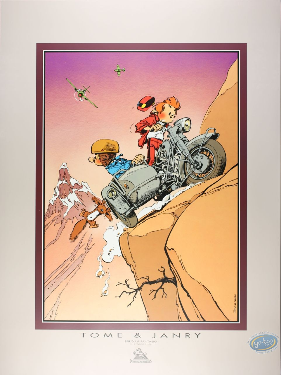 Affiche Offset, Spirou et Fantasio : Side-car