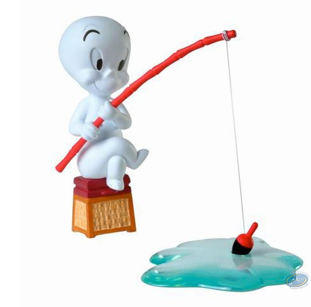 Statuette résine, Casper : Casper à la pêche
