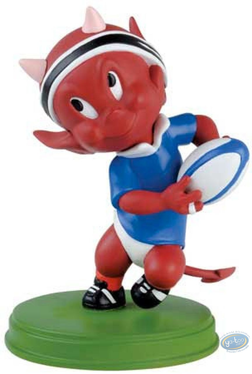 Statuette résine, Hot Stuff : Rugbyman
