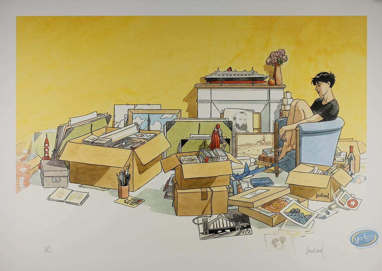 Affiche Offset, Cahier Bleu (Le) : Cartons et Souvenirs