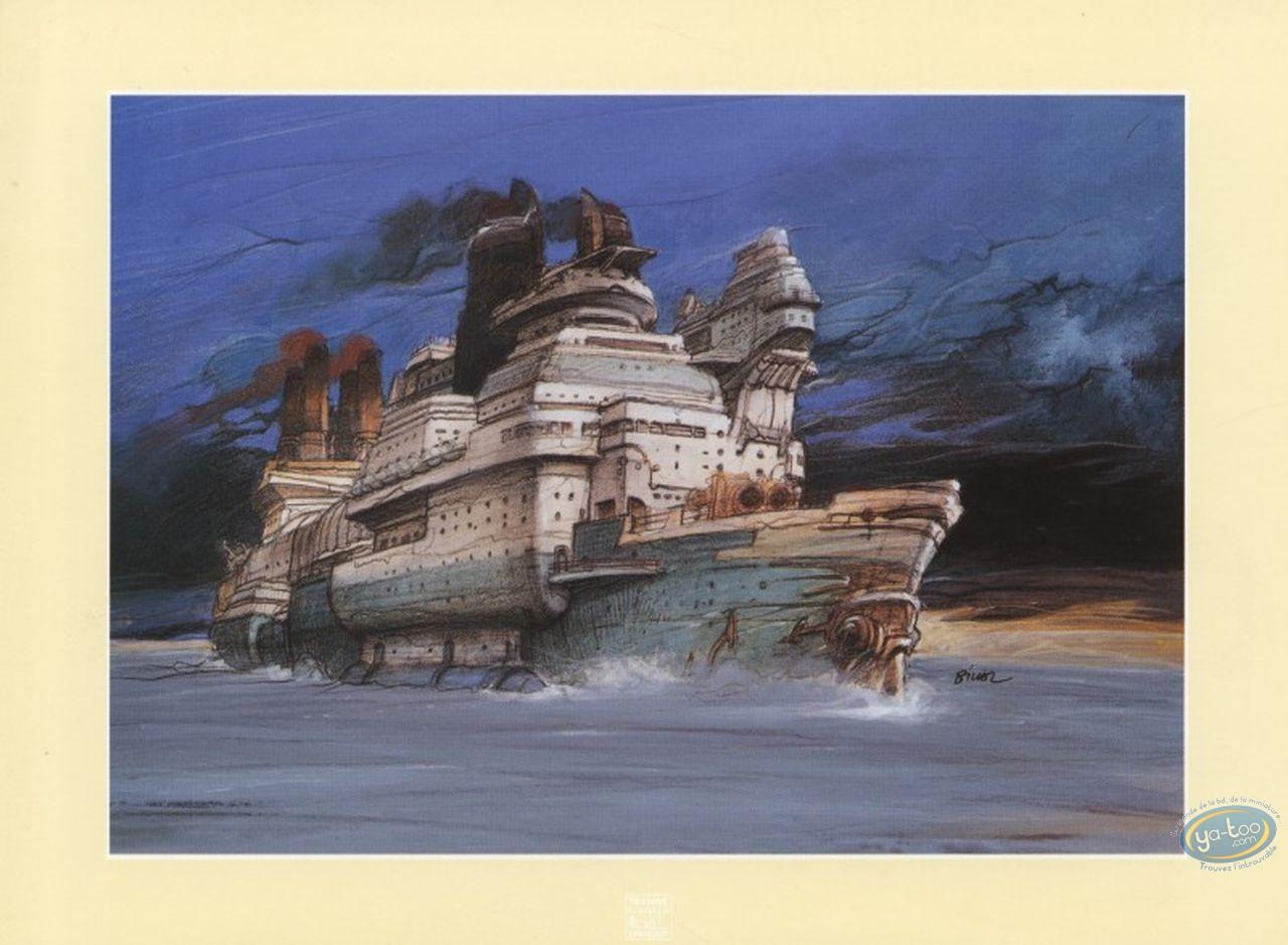 Ex-libris Offset, Nikopol : Bilal, bateau (petit)