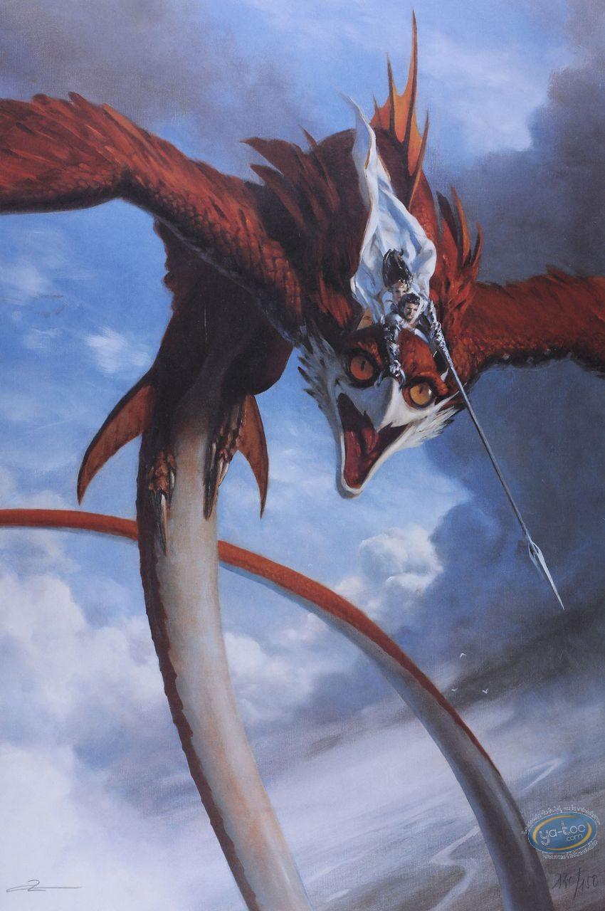Affiche Offset, Chevalier sur griffon