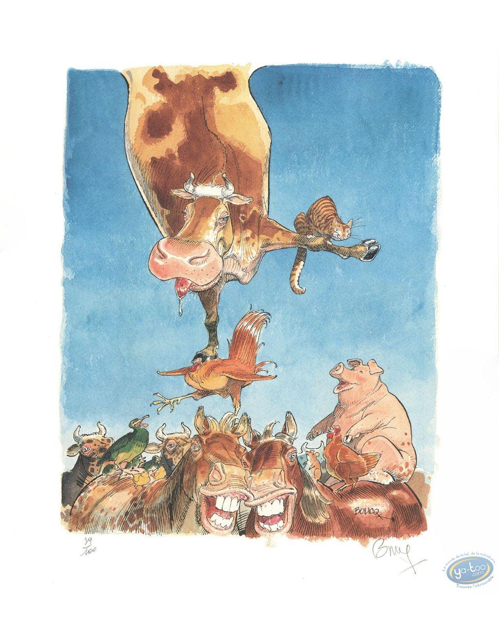 Affiche Offset, Jérome Moucherot : Vache funambule