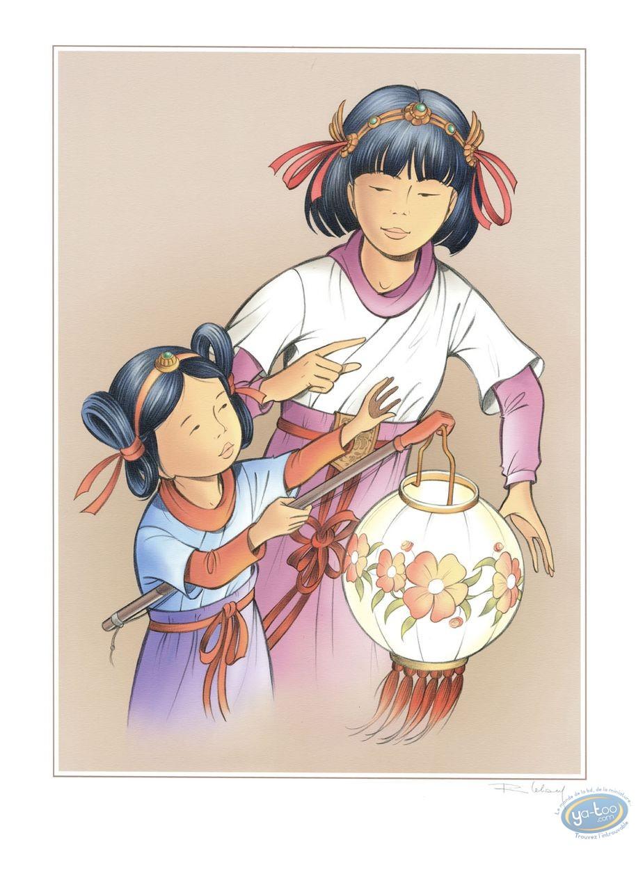 Affiche Offset, Yoko Tsuno : Yoko et Rosée au Lampion