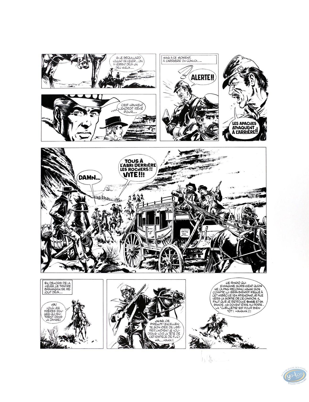 Affiche Offset, Ringo : William Vance : planche 5 : Ringo 3