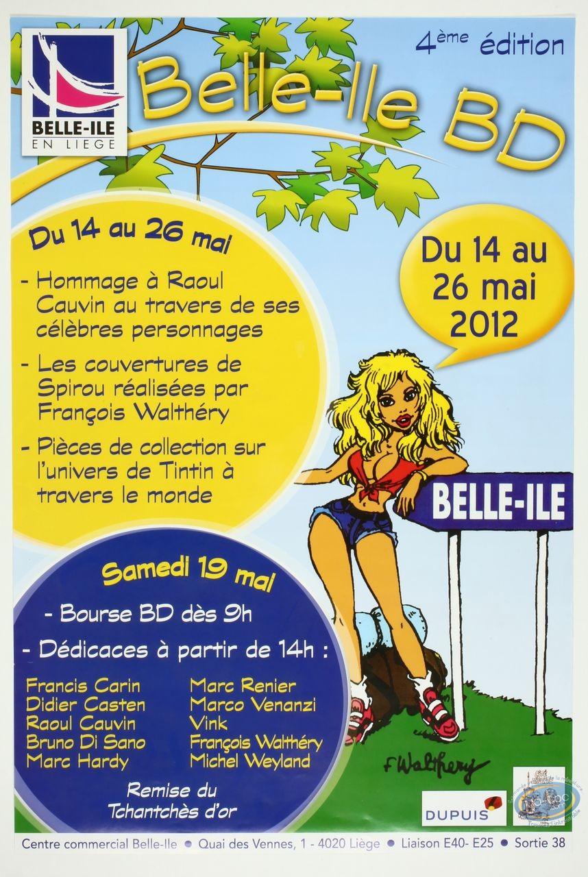 Affiche Offset, Affiche 'Belle-Ile B.D 2012' par Walthéry (Grand format)