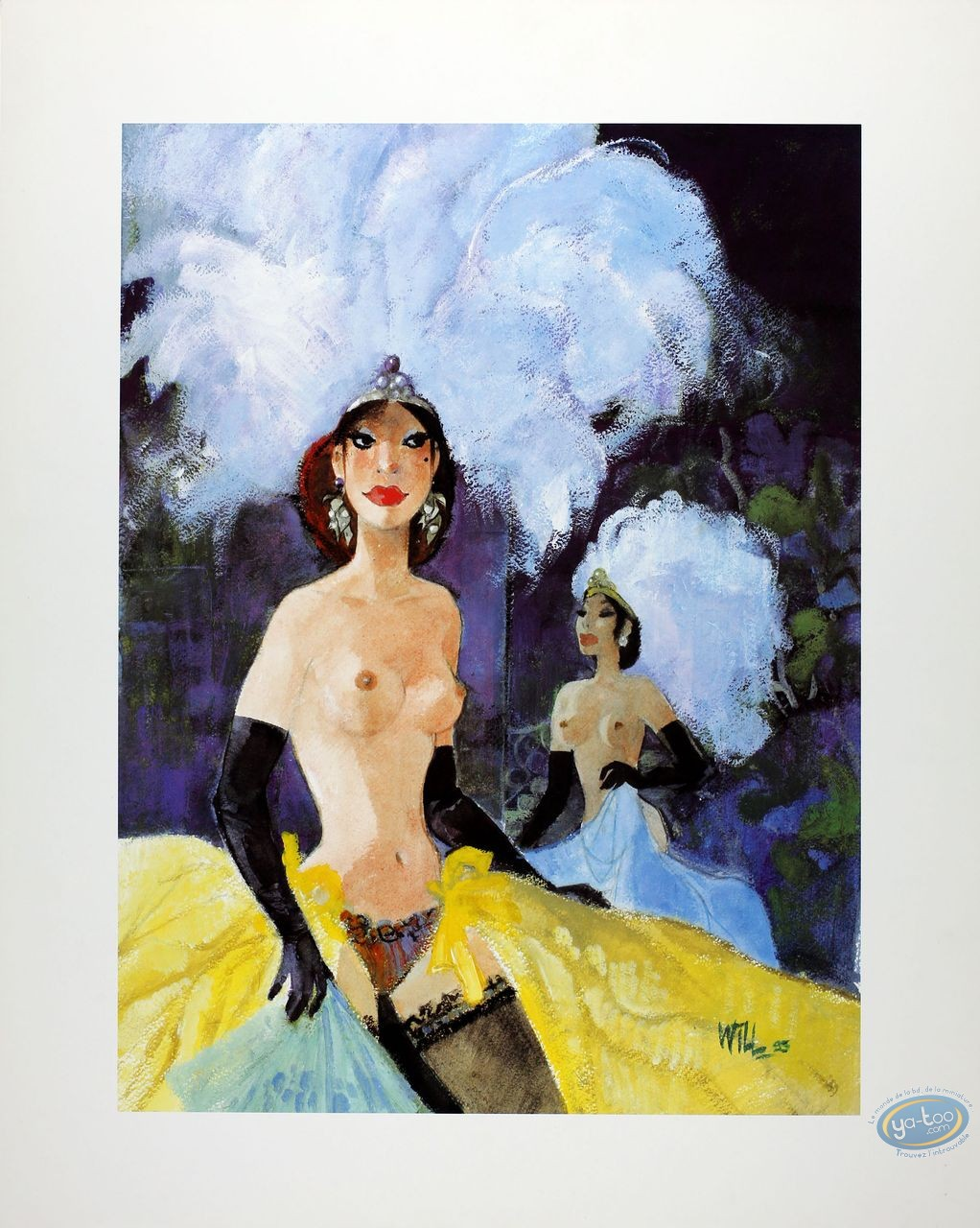 Affiche Offset, Pin-Up : Moulin Rouge (satiné)