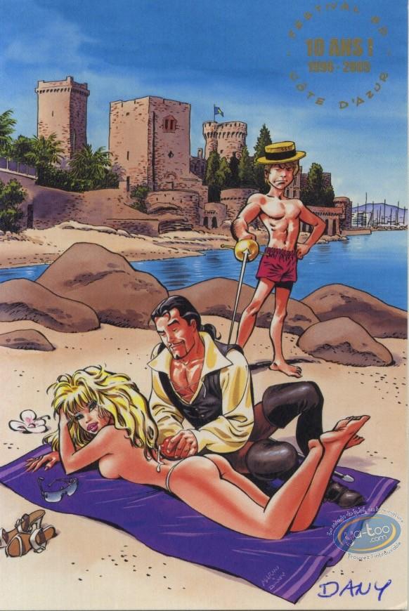 Carte postale, Olivier Rameau : 10 ans Festival BD Côte d'azur - Carte 10 - 2005