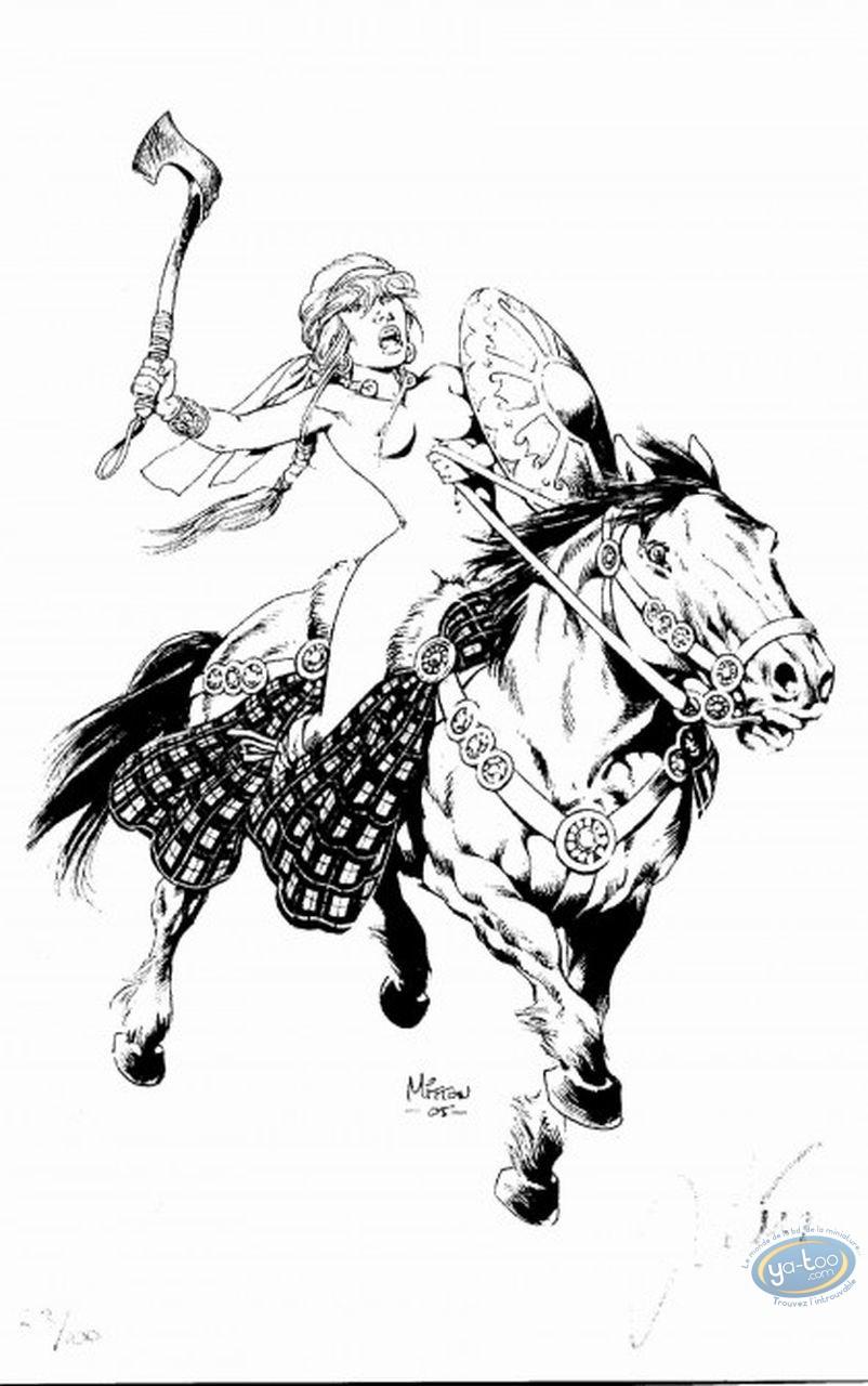 Ex-libris Offset, Vae Victis : Ambre à cheval