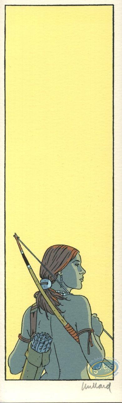 Marque-page sérigraphie, Plume aux Vents : Ariane et arc
