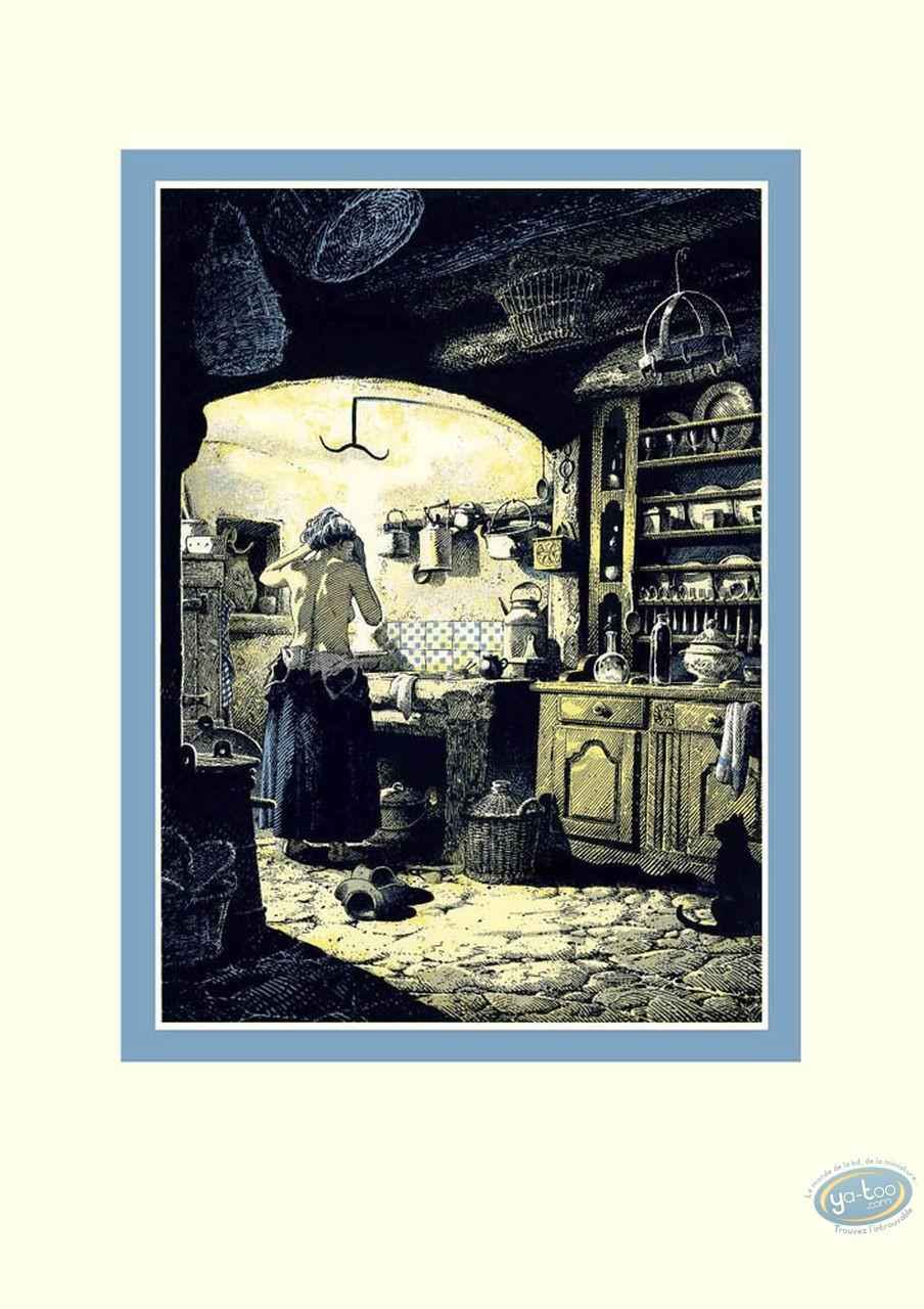 Affiche Sérigraphie, Femme faisant sa toilette