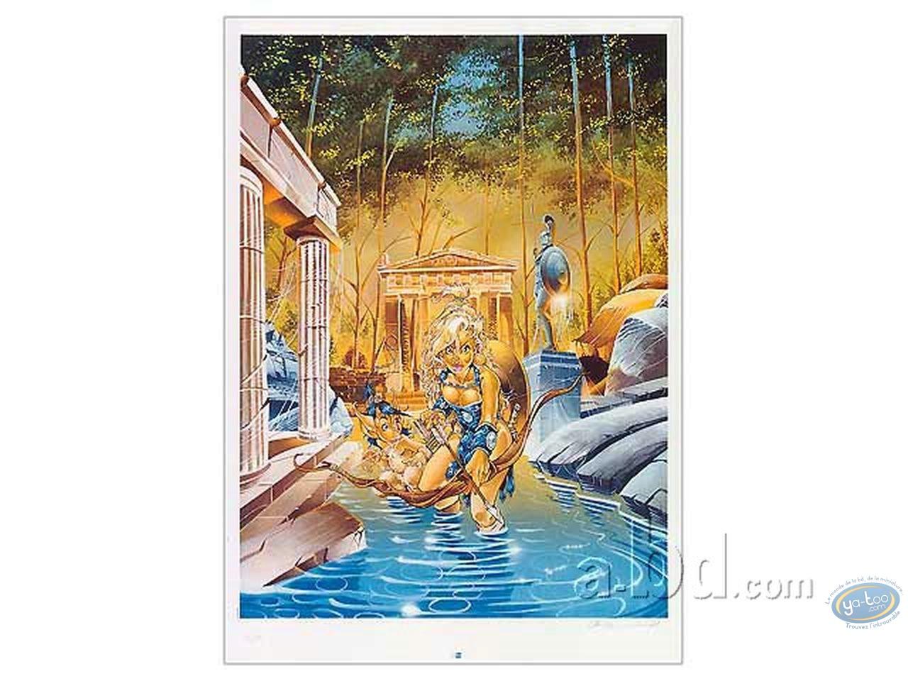 Affiche Offset, Atalante : Crisse, Atalante s'avancant dans l'eau