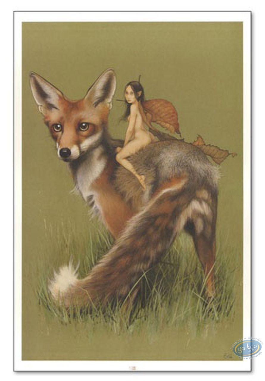 Affiche Offset, Féerie : Elfe et renard