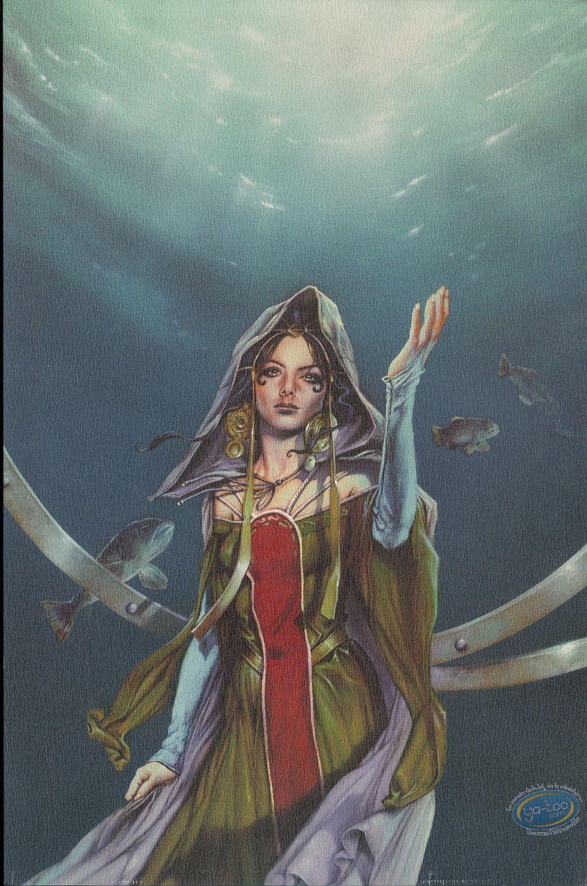 Ex-libris Offset, Korrigans : Femme sous l'eau