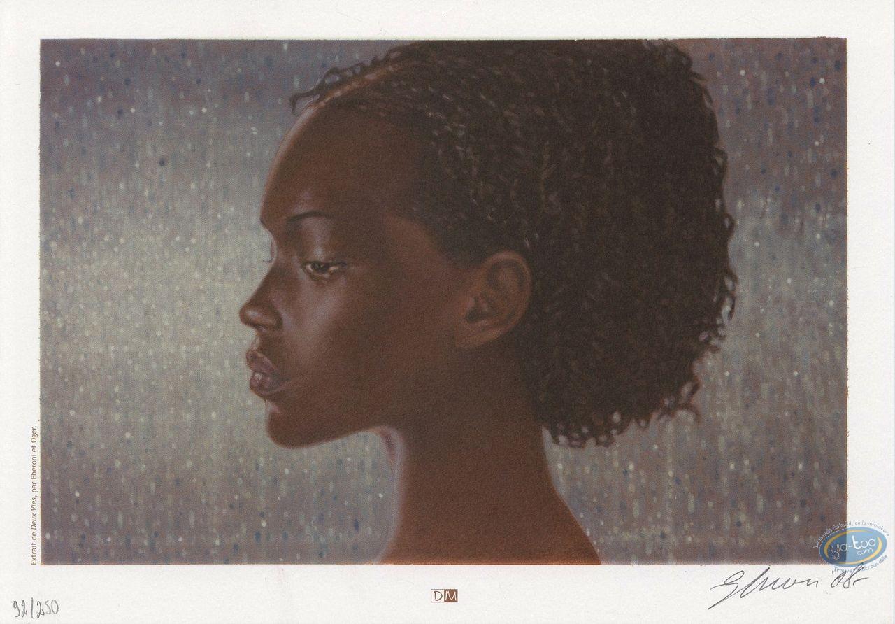 Ex-libris Offset, Deux Vies : Portrait de femme