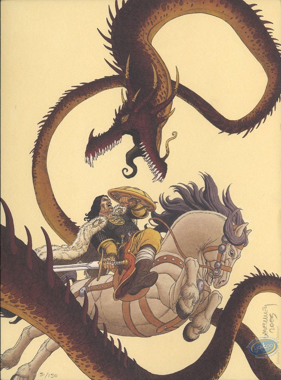 Ex-libris Offset, Arthur : Arthur combattant le dragon