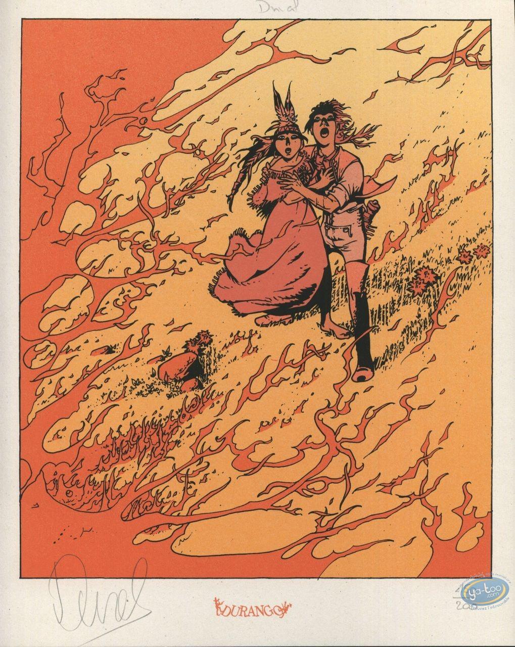 Ex-libris Sérigraphie, Lutins (Les) : Feu